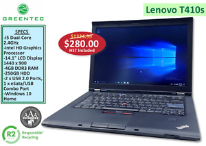 Greentec - Refurbished Lenovo T410s Laptop - $280