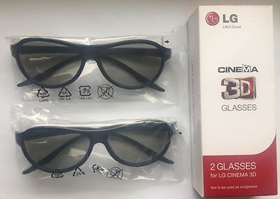 2 pcs x NEW Original LG Glasses AG-F310 PASSIVE ALL MODELS LG CINEMA 3D