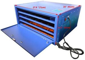 """21""""x25Drying Cabinet 4 Layer Curing Screen Printing Machine 006005"""