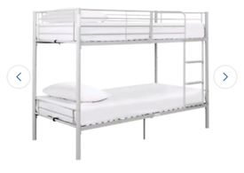 Brand new silver bunk bed frame