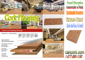 Our Warehouse Sale Cork Flooring: Water Repellent