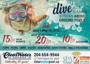 CLEARWATER POOL & SPA Anniversary Sale on Pool & Spa Supplies