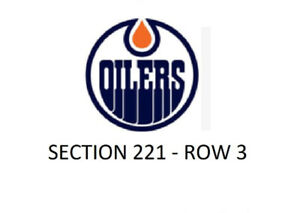 OILERS TICKETS - PRICED TO SELL!