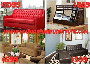 FAUX LEATHER PLATFORM BED ONLY $169 LOWEST PRICES Kitchener / Waterloo Kitchener Area image 2