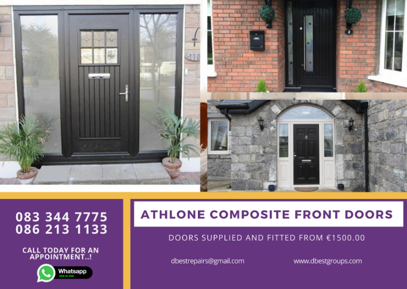 Athlone Palladio and Rhino Composite Front Entrance and Back Doors