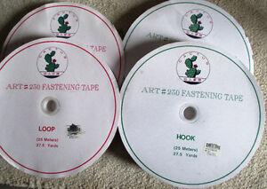 """ART#230 Hook and Loop Fastening Tape 1"""" (25 mm) x 27.5 Yards"""