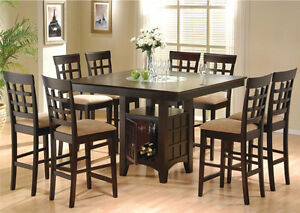 7 Or 9 Piece Counter Height Dining Table Free Delivery In EDM