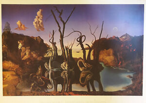 "Salvador Dali - Swans Reflecting Elephants 36""x46"""