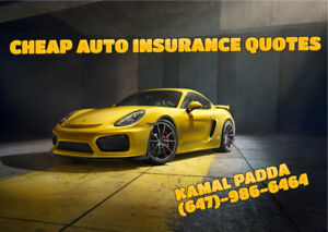 CHEAP AUTO INSURANCE- CALL FOR A FREE QUOTE TODAY!! 647-986-6464