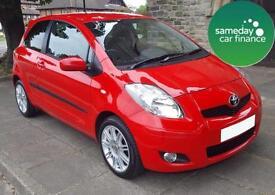 ONLY £118.97 PER MONTH RED 2011 TOYOTA YARIS 1.3 VVT-T SR 3 DOOR PETROL MANUAL