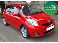 ONLY £120.81 PER MONTH RED 2011 TOYOTA YARIS 1.3 VVT-T SR 3 DOOR PETROL MANUAL