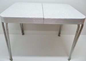 c. 1950 DINING TABLE Chrome FREE DELIVERY Antique Vintage