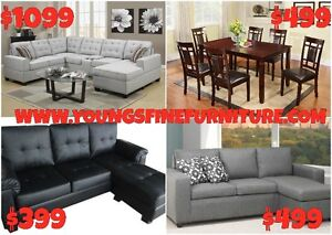 2PCS BONDED LEATHER SECTIONAL WITH PULL OUT $599 LOWEST PRICE Kitchener / Waterloo Kitchener Area image 4