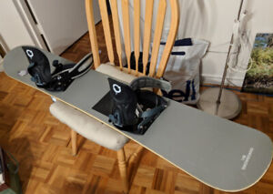 Used Snowboard, bindings and boots (women size 8)