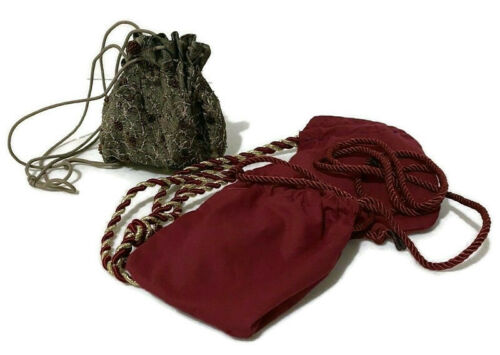 Medieval Renaissance Drawstring Pouch Bag Purse Cosplay Reenactment Lot of 3