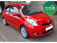 ONLY £99.97 PER MONTH RED 2011 TOYOTA YARIS 1.3 VVT-T SR 3 DOOR PETROL MANUAL