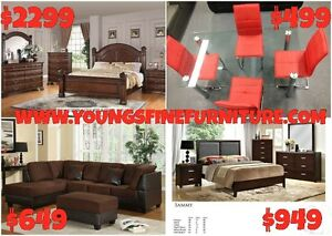 8PCS QUEEN SIZE BEDROOM SET ONLY $899 LOWEST PRICE Kitchener / Waterloo Kitchener Area image 5