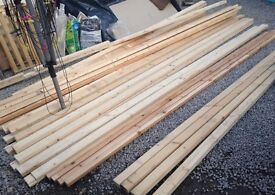 Wood from dismantled stud wall