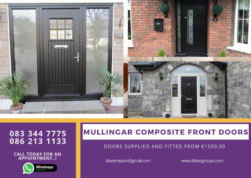 Mullingar Palladio and Rhino Composite Front Entrance and Back Doors