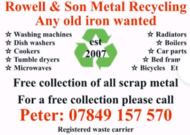 ♻️Rowell & Son♻️ Metal Recycling