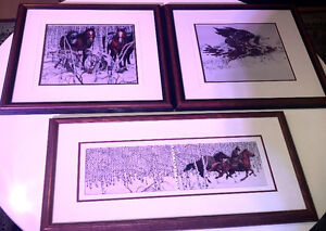 Bev Dolittle set of framed prints