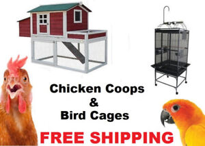 Bird Cages & Chicken Coops  (BRAND NEW & FREE SHIPPING)