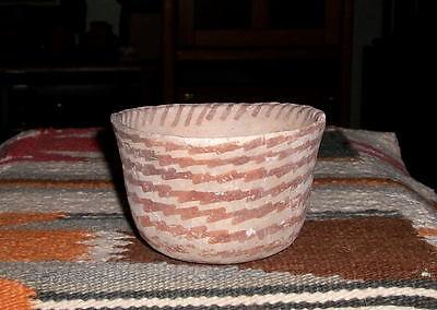 "Hohokam red on buff bowl ca 1250 ad., ""MINT"""