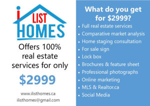 100% Real Estate Services for Flat Fee $2999