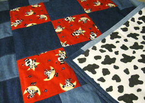 Denim & Flannel Cow Quilt Prince George British Columbia image 6