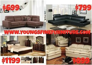 2PC GENUINE LEATHER SECTIONAL ONLY $1299 LOWEST PRICES Kitchener / Waterloo Kitchener Area image 9