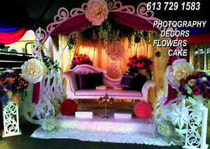 WEDDING Decors & PHOTOGRAPHY&FLOWERS from $699 at 613 729 1583