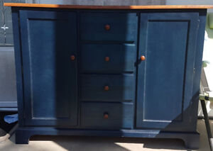 Beautiful Blue Buffet- Price Lowered to sale