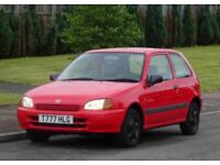 1999 Toyota Starlet 1.3cc, Automatic gearbox, 3 Doors, Red, 78k Low Mileage