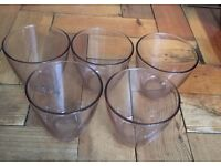 Job lot tealight candle holders - great for wedding decorations