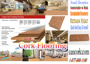 Cork Flooring: Water Repellent, Anti-Microbial, Acoustic