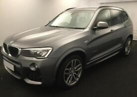 2014 GREY BMW X3 2.0 XDRIVE20D M SPORT DIESEL AUTO ESTATE CAR FINANCE FR £58 PW