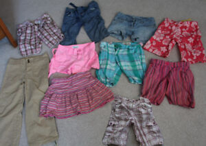 Lot of 9 Pairs of Girls Size 8 Shorts and Capris