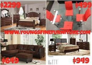 8PCS QUEEN SIZE BEDROOM SET ONLY $2099 LOWEST PRICE Kitchener / Waterloo Kitchener Area image 5