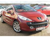 PEUGEOT 207 1.6 GT COUPE CABRIOLET 2D 120 BHP JUST SERVICED + NEW BOSCH BATTERY