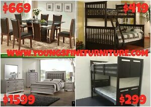 8PCS QUEEN SIZE BEDROOM SET ONLY $799 LOWEST PRICES Kitchener / Waterloo Kitchener Area image 8