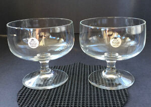 Royal Barvarian crystal (Germany) footed dessert dishes (x2) Belleville Belleville Area image 1