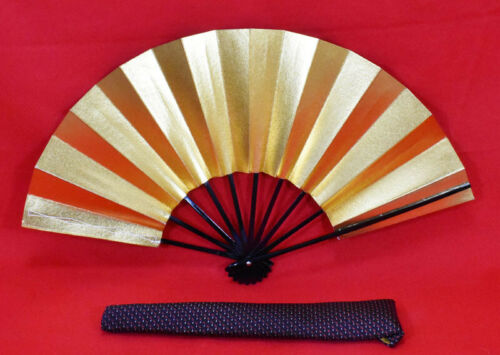"Kyoto Mai-ogi (a fan for Japanese traditional dance)  ""Gold "" #3851"