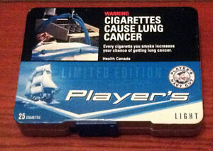 LIMITED EDITION NAVY CUT PLAYERS LIGHT CIGARETTE TIN BOX