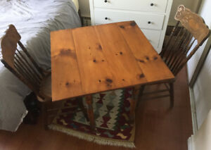 Gorgeous antique table & chairs; $230 set or $200/$50 separately