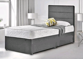 🌈BED SALE. BRAND NEW 3FT SINGLE DIVAN FULL BED SETS MATTRESS INCLUDED