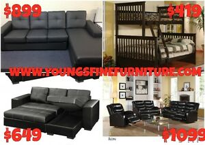 2PCS BONDED LEATHER SECTIONAL WITH PULL OUT $599 LOWEST PRICE Kitchener / Waterloo Kitchener Area image 7