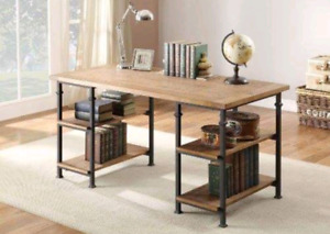 Beautiful home elegance metal frame writing desk