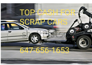 We buy scrap car for top price in Mississauga and Brampton area