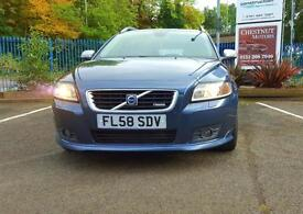 Volvo V50 2.0D Diesel Auto Powershift 2008 R-Design Sport In Blue