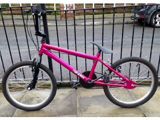 Pink girls stunt bike